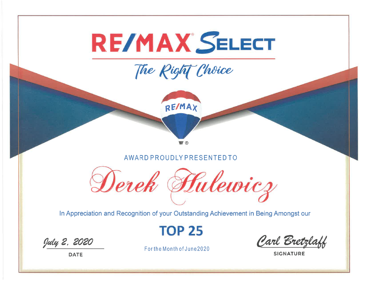 derek hulewicz top remax realtor in edmonton in june 2020