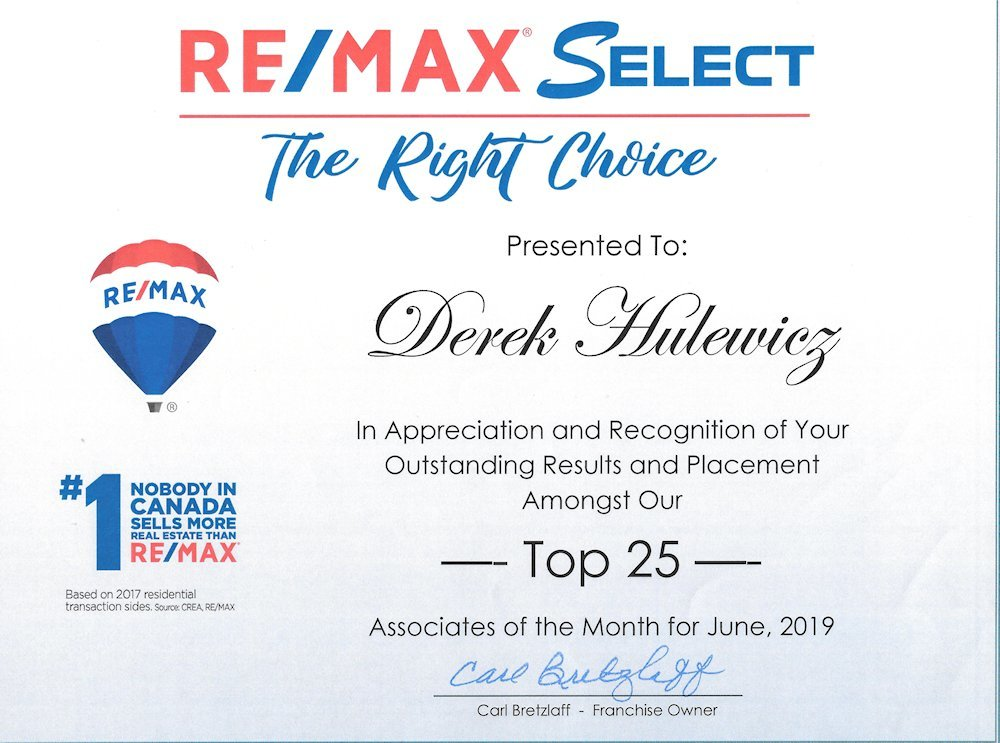 top remax agent for june of 2019 derek hulewicz