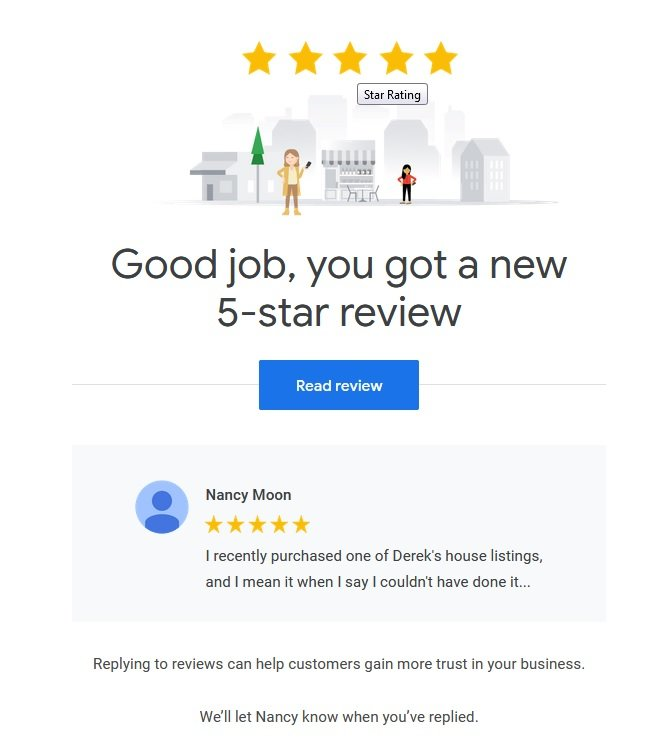 derek hulewicz google review by a buyer