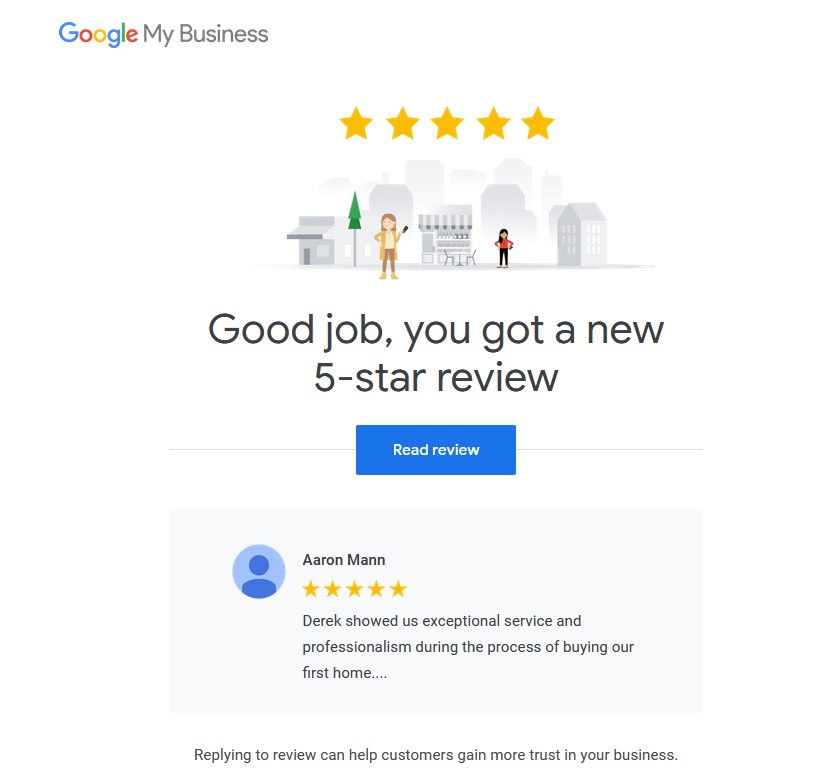 google business review derek hulewicz remax realtor
