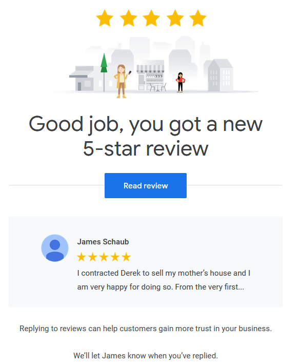 google review for derek hulewicz top remax realtor edmonton