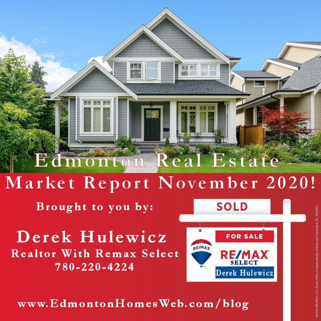 edmonton real estate matker for november of 2020