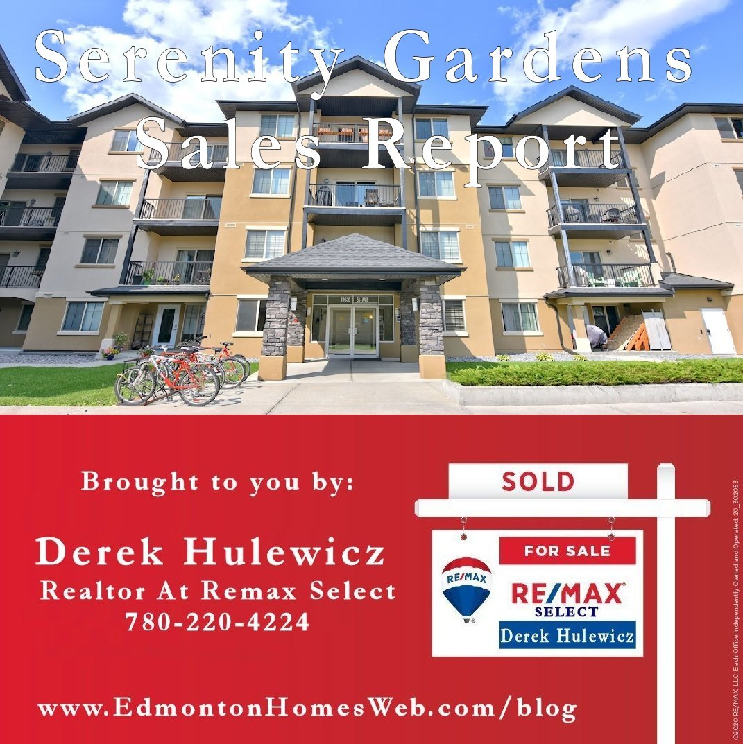 sales report for serenity gardens condos by derek hulewicz remax